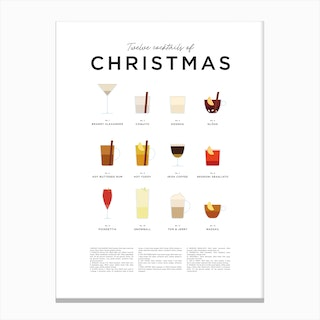 Christmas Cocktails Canvas Print