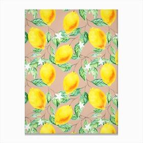 Lemon Fresh In Canvas Print