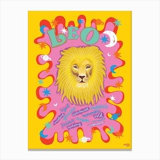 Leo Zodiac Starsign Canvas Print