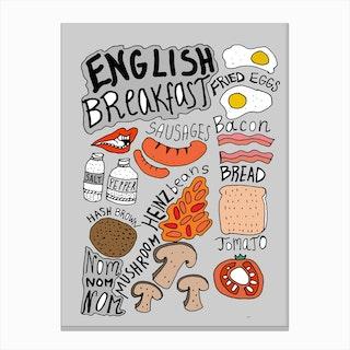 English Breakfast Grey Canvas Print