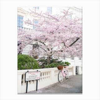 London Springtime Corner Canvas Print
