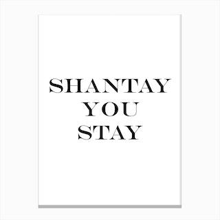 Shantay Canvas Print