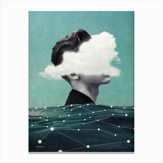 Behind The Cloud Canvas Print