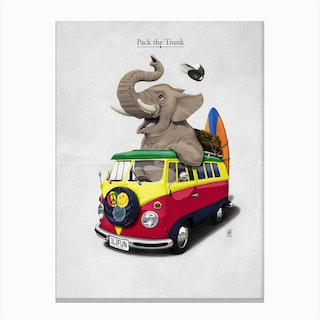 Pack the Trunk Canvas Print