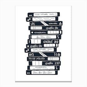 Old Tapes Canvas Print