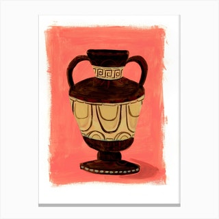 Brown Urn 02 Canvas Print