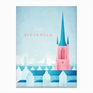 Visit Stockholm Canvas Print