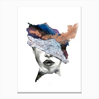 Lady Galaxy Canvas Print