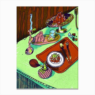 Crystal Meal Cold Canvas Print