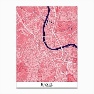 Basel Pink Purple Canvas Print