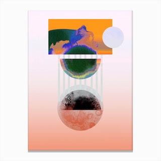 Pulsar Orange Canvas Print