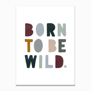 Born To Be Wild   Woodland Canvas Print