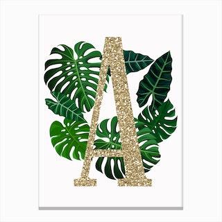 Tropical A Canvas Print