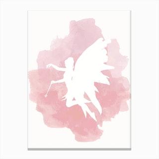 Fairy Pink Watercolour Canvas Print