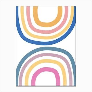 Double Upside Down Rainbow Canvas Print