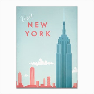 Visit New York Canvas Print
