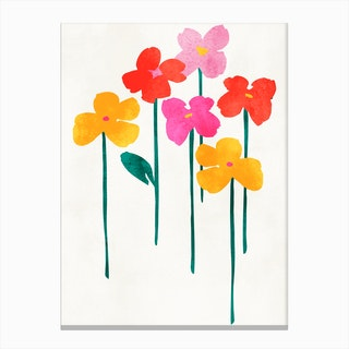Happy Flowers Canvas Print