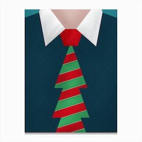 Christmas Tie Canvas Print