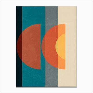 Mid Century Abstract Retros B Canvas Print