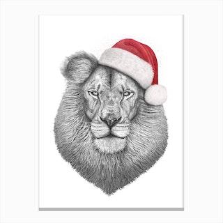 Christmas Lion Canvas Print