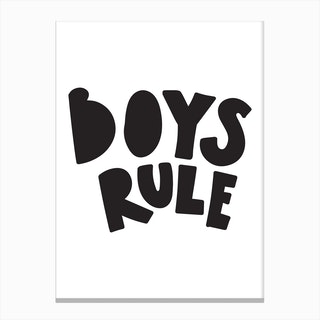 Boys rule black Canvas Print