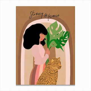 Strong And Fierce Girl Power Canvas Print