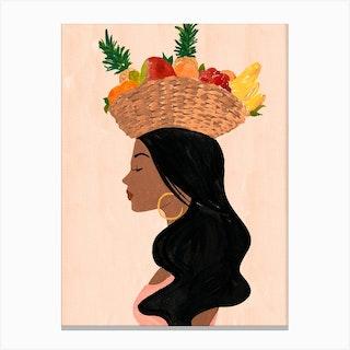 Valentinas Fruit Basket Canvas Print