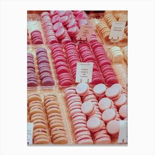 Pink Palette Macarons Canvas Print