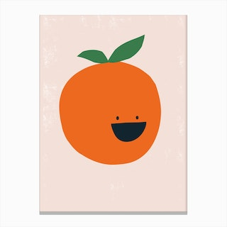 Orange Kitchen Canvas Print