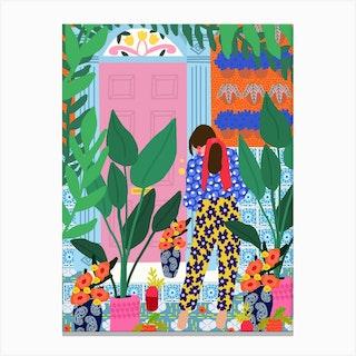 Inside My Personal Garden Canvas Print