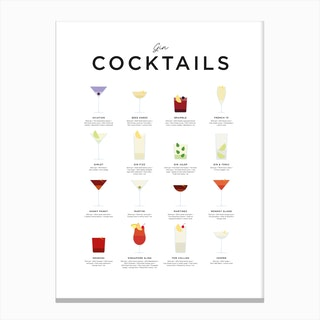 Gin Cocktails Canvas Print
