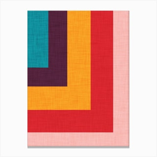Abstract Mod Cube Canvas Print
