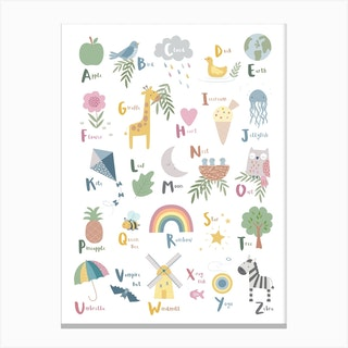 Little Things Alphabett Canvas Print