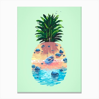 Pineapple Island Canvas Print