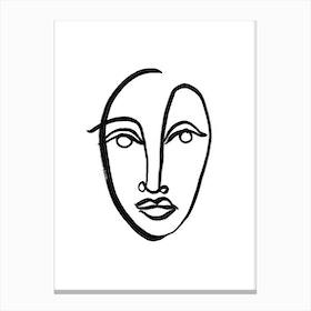 Faces 9 Canvas Print