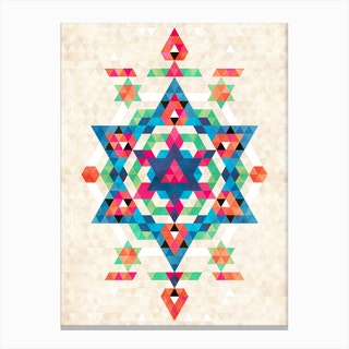 Bohemian Kilim Diamond Canvas Print