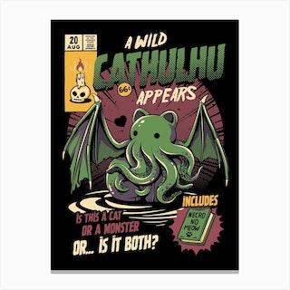 Cathulhu Canvas Print