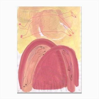 Pink Horsy Canvas Print