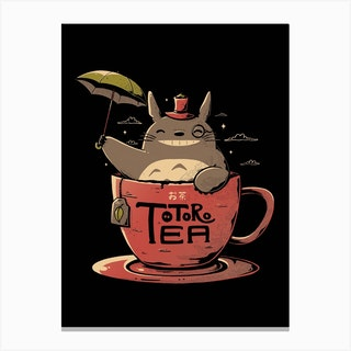 Totoro Tea Canvas Print