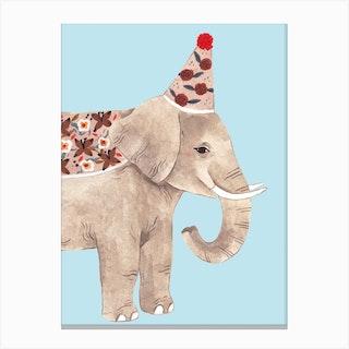 Chubby Elephant Canvas Print
