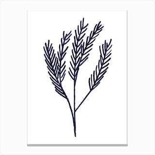Mono Pine Canvas Print