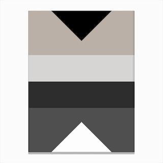 Geometric Triangle Bands Canvas Print
