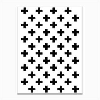 Plus Pattern Canvas Print