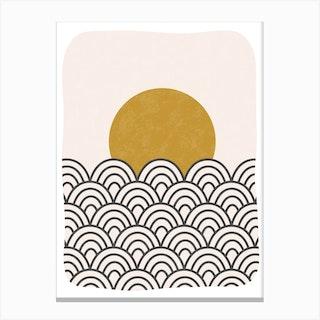 Sun Waves Canvas Print