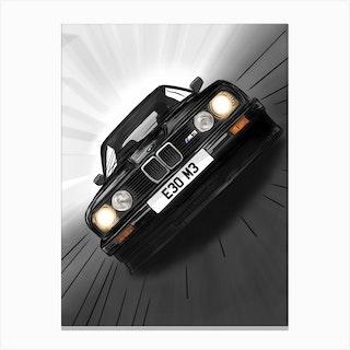 Car Bmw E30 M3 Canvas Print