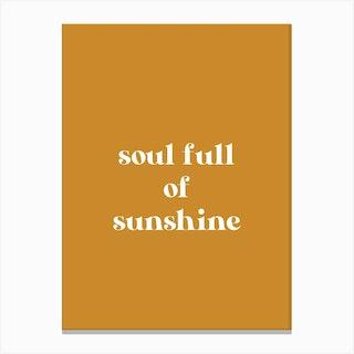 Sunshine Soul Canvas Print