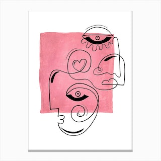 The Laughing Heart 2 Canvas Print