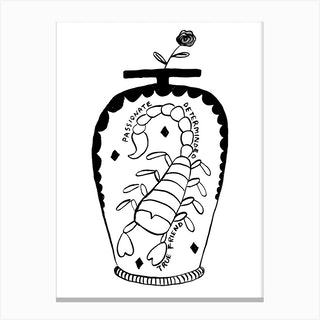 Scorpio Vase Canvas Print