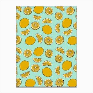 Lemon Print Canvas Print