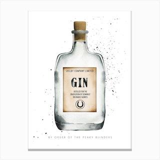 Peaky Blinders Gin Canvas Print